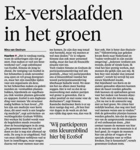 Artikel EcoSol Haarlems Dagblad